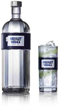 ABSOLUT MODE bottle and glass