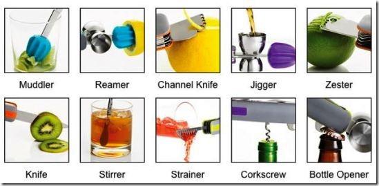 Attrezzi Barman Bar10der 10 in uno1