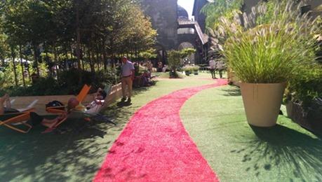 Bergamo, città alta trasformata in giardino1