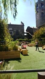 Bergamo, città alta trasformata in giardino4