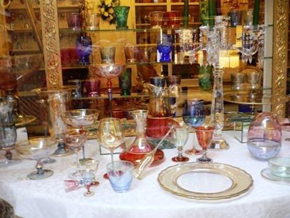 Bicchieri vetro colorato Vintage