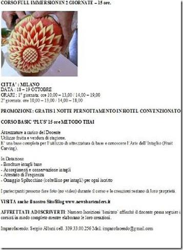 CORSO a MILANO  Arte intaglio Thai