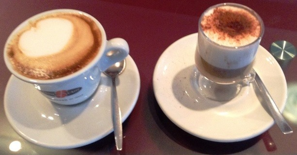 Caffé, Cappuccino e Marocchino creati da corsisti