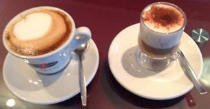 Caffè Marocchino e Cappuccino durante corso caffetteria