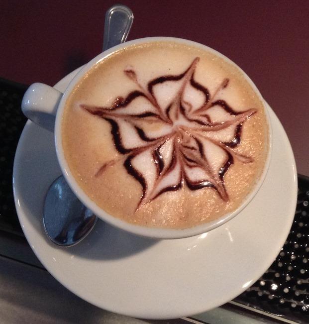 Caffè decorazione cappuccino