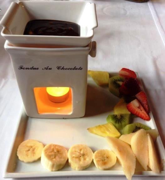 Caffetteria, Fonduta di Cioccolata e Frutta