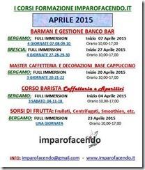 Calendario Corsi APRILE 2015