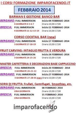 Calendario Corsi Febbraio 2014