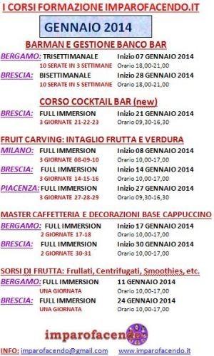 Calendario Corsi GENNAIO 2014