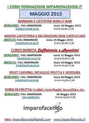 Calendario Corsi Maggio 2015