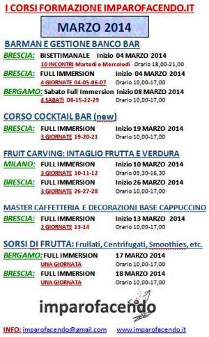 Calendario Corsi Marzo 2014 imparofacendo