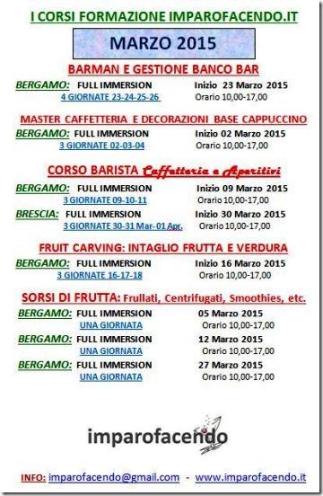 Calendario Corsi Marzo 2015