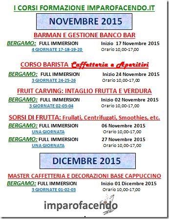 Calendario Corsi Novembre 2015