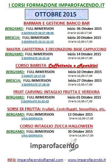 Calendario Corsi Ottobre 2015