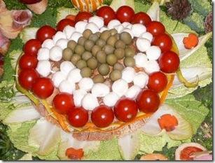 Carving Centrino pomodorini, mozzarelline, olive