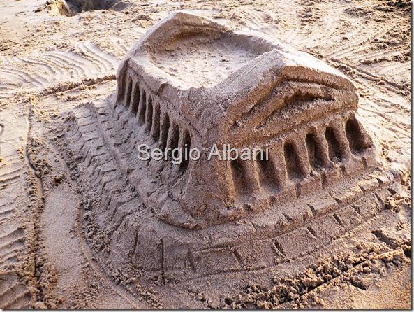 Carving Tempio Greco in spiaggia