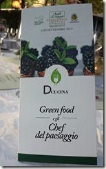 Cena Green Food e gli Chef del paesaggio10R