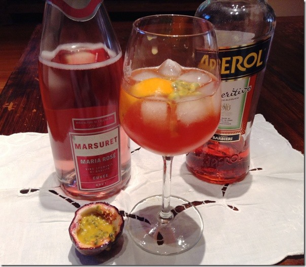 Cocktail Passion Aperol Spritz