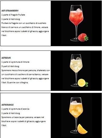 Cocktail con Asti Cinzano