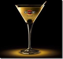Cocktail martini gold finger