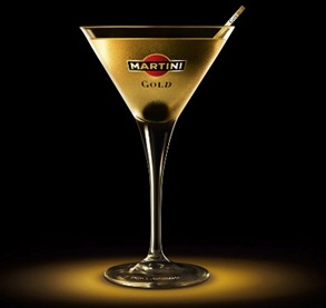 Cocktail martini gold finger