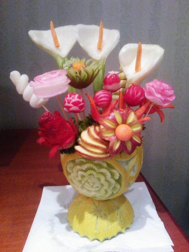 Corso Fruit Carving, intaglio frutta1