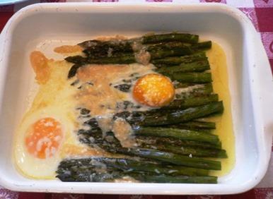 Cucina Asparagi uova formaggio grana