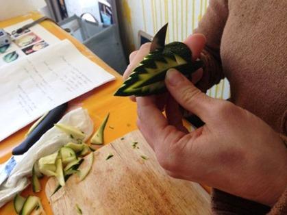 Durante Corso fruit carving, foglia zucchina