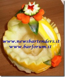Fruit Carving Cestino melone 1