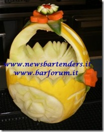 Fruit Carving Cestino melone 2