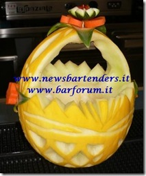 Fruit Carving Cestino melone 3