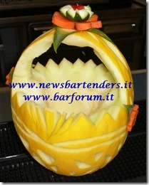 Fruit Carving Cestino melone 4