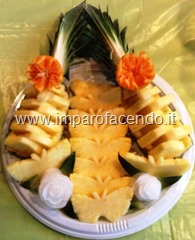 Fruit Carving Ananas piatto portata2r