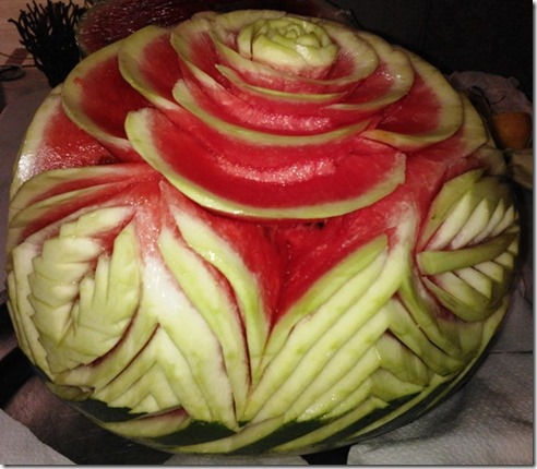 Fruit Carving Anguria Centro Tavola 2
