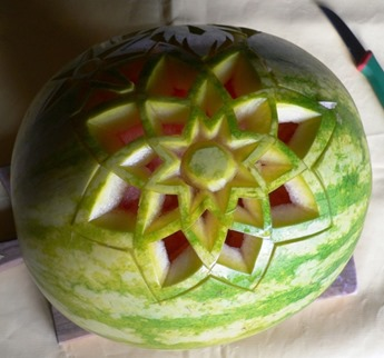 Fruit Carving Cesto Anguria 1