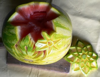 Fruit Carving Cesto Anguria 2