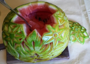 Fruit Carving Cesto Anguria 3