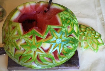 Fruit Carving Cesto Anguria 4