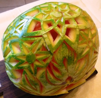 Fruit Carving Cesto Anguria 6