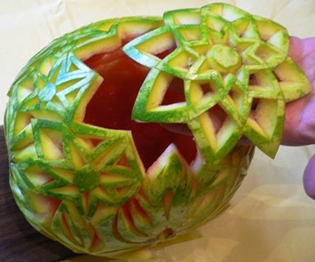 Fruit Carving Cesto Anguria 7