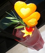 Fruit Carving Decorazione Drink San Valentino