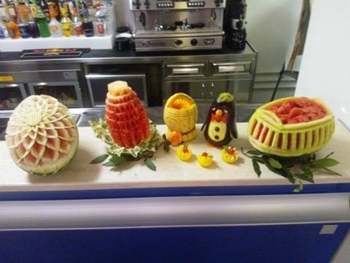 Fruit Carving Esposizione per aperitivo