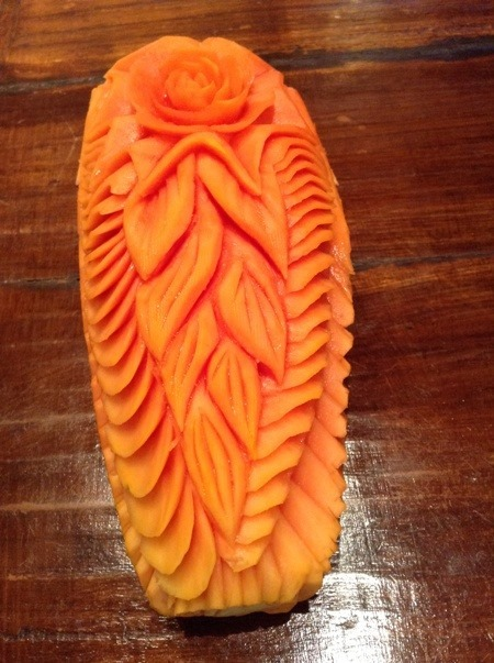 Fruit Carving Fior di Papaya 1