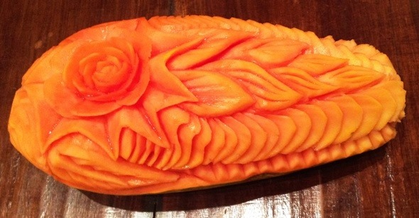 Fruit Carving Fior di Papaya 2