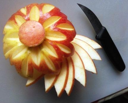 Fruit Carving Fiore mela doppi petali