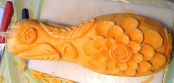 Fruit Carving Intaglio zucca durante corso1r