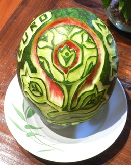 Fruit Carving Logo Europei calcio 2012.1