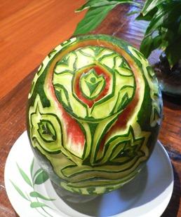 Fruit Carving Logo Europei calcio 2012.2