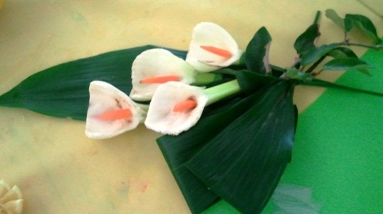 Fruit Carving Mazzo fiori decorativo