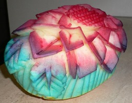 Fruit Carving Melone Colorato2